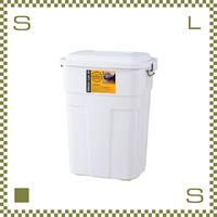 トラッシュカン 50L ホワイト W45.5/D32/H57.6cm ペール ごみ箱 ゴミ箱 azu-lfs936wh