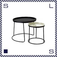 CAMBRO キャンブロ ローテーブル セット ブラックフレーム ブラック:天板(Lサイズ) ホワイト:天板(Sサイズ) アメリカ製