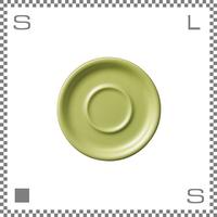 ORIGAMI オリガミ カプチーノカップ/ラテカップ兼用ソーサー グリーン 6oz/8ozカップ兼用ソーサー Φ147mm 日本製