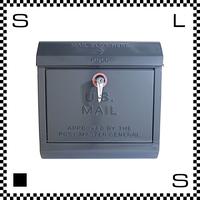 アートワークスタジオ U.Sメールボックス レバー開閉式 ダークグレー W385/D132/H400mm 壁付ポスト 鍵付き 郵便ポスト  TK-2075-DGY