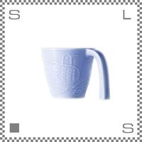 aiyu アイユー マグカップ bird バード ブルー W12/D9/H8cm 220cc ユニバーサルデザイン ロングハンドル 波佐見焼 日本製