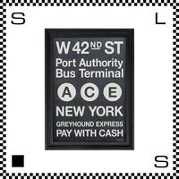 アートワークスタジオ アートフレーム A2サイズ ニューヨーク ブラックフレーム W480/D45/H657mm ポスター付フレーム アートポスター TR-4198-NY