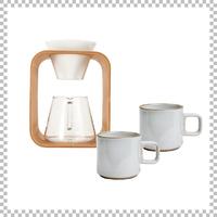 SNOWTOP COFFEE series スノウトップ コーヒーポット&ドリッパーセット 600ml & HASAMI PORCELAIN マグカップ Sサイズ クリア(グロス)×2個