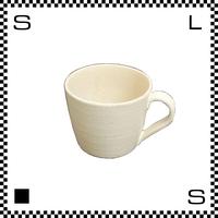 ヤマ庄陶器 信楽焼 Deep Breath 深呼吸 マグカップ ホワイト 350ml Φ9.5mm コーヒーカップ ハンドメイド 日本製