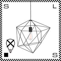 アートワークスタジオ Ambient form2 アンビエントフォーム2ペンダント ブラック 電球なし Φ425/H435mm スチールフレームシェード シーリングカバー付 AW-0471Z-BK