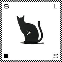 CAT キャット W21.5/H21.5cm ネコ型 猫モチーフ ウォールクロック 壁掛け時計 スイープクオーツ使用 日本製