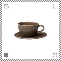 キントー TOPO トポ カップ&ソーサー 300ml ブラウン コーヒーカップ&ソーサー パステルカラー