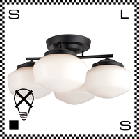 アートワークスタジオ East College イーストカレッジシーリングランプ Lサイズ ブラック/ホワイト 電球なし Φ330/H335mm ガラスシェード AW-0456Z-BKWH
