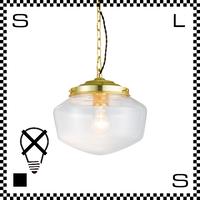 アートワークスタジオ East College イーストカレッジ Sサイズ ライトゴールド/クリア 電球なし Φ240/H210mm ペンダントライト ガラスシェード AW-0454Z-LGCL