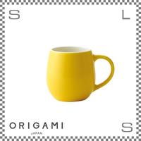 ORIGAMI オリガミ バレルアロマカップ イエロー Φ76/W105/H78mm 210cc コーヒーマグ マグカップ アロマが愉しめる 日本製