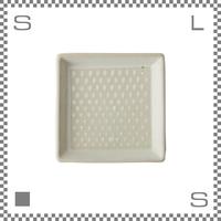 aiyu アイユー ORIME オリメ 鹿の子 カノコ 正角皿 W12/D12/H2cm スクエアプレート 波佐見焼 日本製