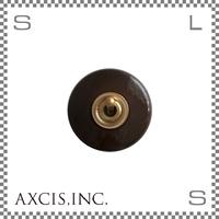 AXCIS アクシス 陶器製トグルスイッチ ブラウン Φ55/H45mm レトロスイッチ アンティーク hs2339