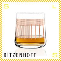 RITZENHOFF リッツェンホフ ウィスキーグラス 250ml ボーダー&ストライプ ピエロ・リッソーニ Φ85/H99mm ロックグラス デジタルアート ギフト  ritz-3540005