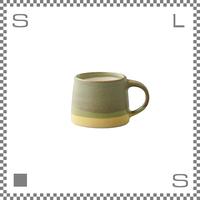 キントー SCS-S03 スローコーヒースタイル マグ 110ml モスグリーン イエロー マグカップ ハンドペイント風