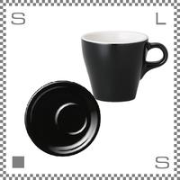 ORIGAMI オリガミ カプチーノカップ&トレーソーサー ブラック 6oz 180cc コーヒーカップ&トレーソーサー バリスタが設計 日本製