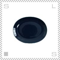 Common コモン オーバルプレート 220mm ネイビー W220/D180/H27mm 波佐見焼 日本製