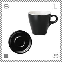ORIGAMI オリガミ カプチーノカップ&ソーサー ブラック 6oz 180cc コーヒーカップ&ソーサー バリスタが設計 日本製