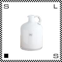 Fidrio フラワーピッチャー ホワイト Φ14.5/H20cm ガラス製 ボトル ハンドル付き オランダ製