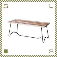 コーヒーテーブル ベンチモチーフ ナチュラル W100/D45/H40cm ブルックリンスタイル ローテーブル 天然マホガニー材使用 azu-nw111na