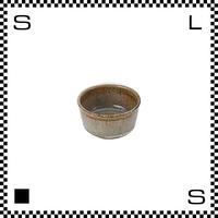 笠間焼 鈴木まるみ アイスクリームカップ 黒糠 Φ7.8/H4.5cm(高台径:5.7cm) ハンドメイド 小鉢 ミニボウル 日本製