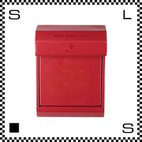 アートワークスタジオ メールボックス ダイヤル式 レッド W283/D190/H380mm 壁付ポスト 鍵付き 郵便ポスト  TK-2079-RD
