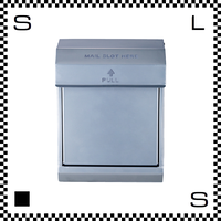 アートワークスタジオ メールボックス ダイヤル式 シルバー W283/D190/H380mm 壁付ポスト 鍵付き 郵便ポスト  TK-2079-SV