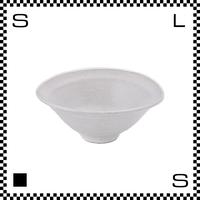 笠間焼 鈴木まるみ 楕円鉢 Lサイズ 糠白 Φ15.5~16.3/H6.8cm(高台径:4.6cm) ハンドメイド オーバルボウル 日本製