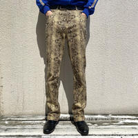"""90s~ """"GUESS"""" python patterned slim pants"""
