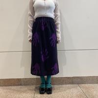 80s hand pattern knit skirt