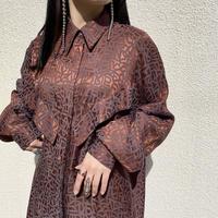 80s〜L/S rayon design shirt