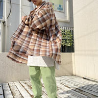 90s~ oversized flannel checked shirt