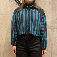 80s~ design striped blouse