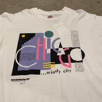 90s~ art printed T-shirt