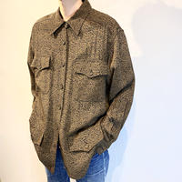 90s leopard patterned rayon shirt