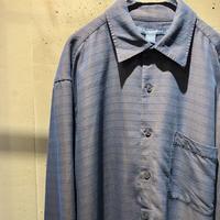 shiny design L/S rayon shirt