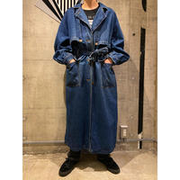 "80s〜 ""TOGETHER!"" denim trench coat"