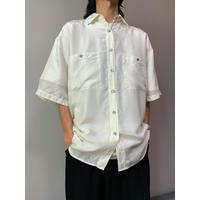80年代 半袖シルクシャツ