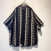 90s all pattern S/S rayon shirt