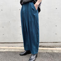 80s rayon wide slacks pants
