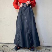 old zip design flare skirt