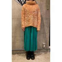 turtle neck shaggy knit