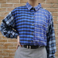 80's Crazy pattern L/S check shirt