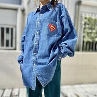 """90s """"SUPERMAN"""" denim shirt"""