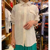 linen blend L/S shirt