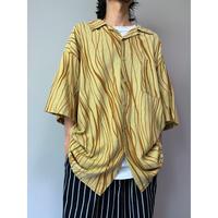 90年代 オーバーサイズリネンブレンドシャツ