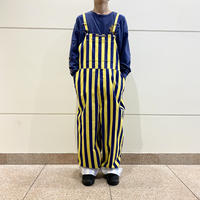 """GAME BIBS"" striped overalls"