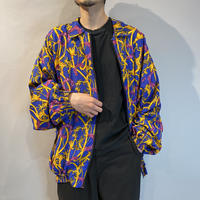 80s zip up all patterned jacket