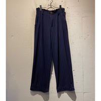 80s〜2tuck striped slacks pants
