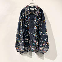old flower embroidery shirt