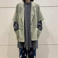 90s~ S/S tailored jacket (KHK)